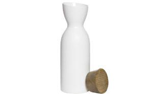 Кувшин с крышкой керамический белый