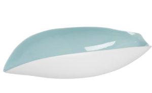 Салатник керамический бело-бирюзовый