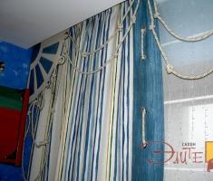 Морская тематика-одна из самых интересных в оформлении комнаты для Вашего малыша.