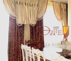 Портьера в классическом дворцовом стиле.